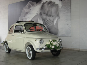 Noleggio Fiat 500 per matrimonio Milano