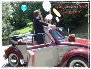 Noleggio Volkswagen Maggiolino per matrimonio Milano